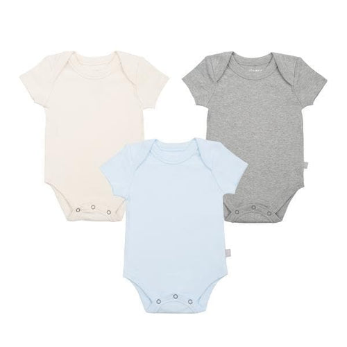 3 pc. lap bodysuit set | blue [ivory | heather]