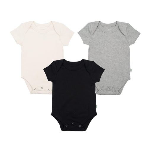3 pc. lap bodysuit set  | black / ivory / heather