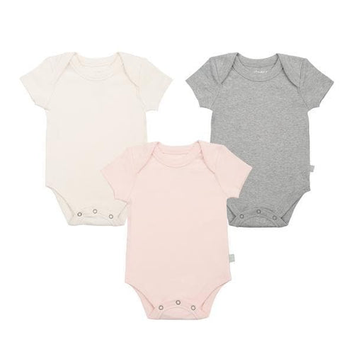 3 pc. lap bodysuit set | pink [ivory | heather]