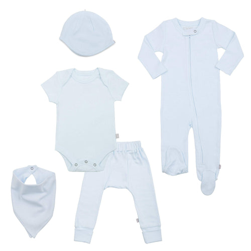 Baby basics bundle set | light blue finn + emma