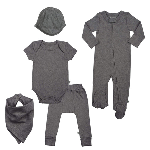 basics bundle set | charcoal