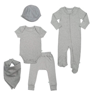 Baby basics bundle set | heather gray finn + emma