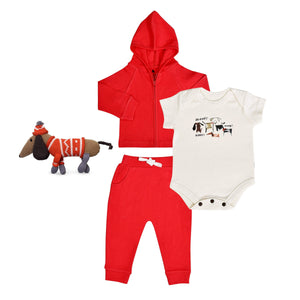 Baby holiday gift set | woof 4pc finn + emma
