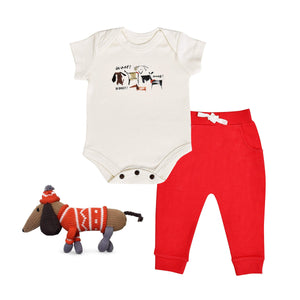 Baby holiday gift set | woof 3pc finn + emma
