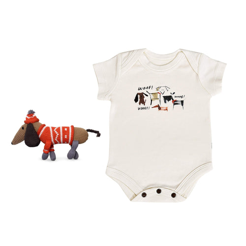 Baby holiday gift set | woof 2pc finn + emma