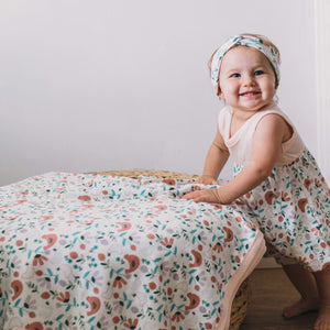 swaddle blanket | scandinavian birds