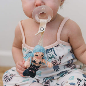 Baby pacifier holder | penelope the mermaid finn + emma