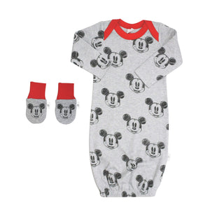 Baby gown and mittens set | mickey finn + emma