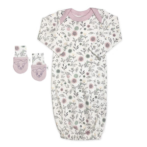 Baby gown and mittens set | floral finn + emma