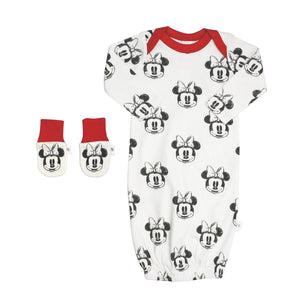 Baby gown and mittens set | minnie finn + emma