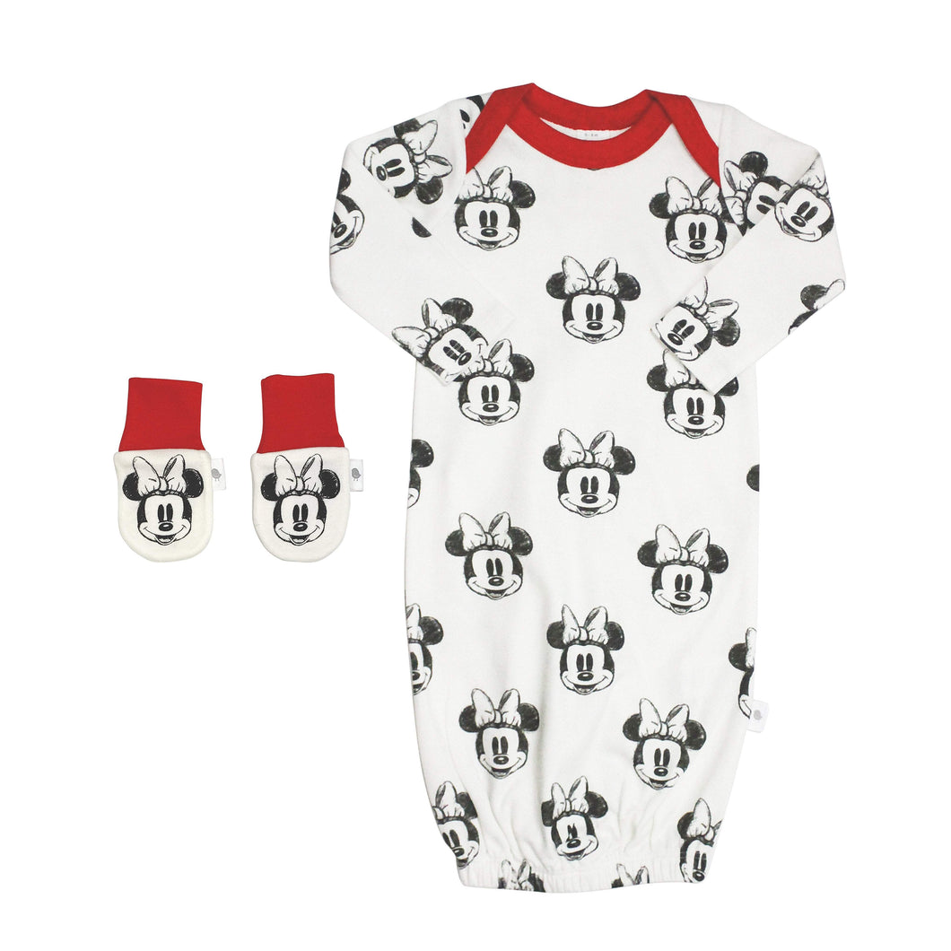 gown and mittens set | minnie