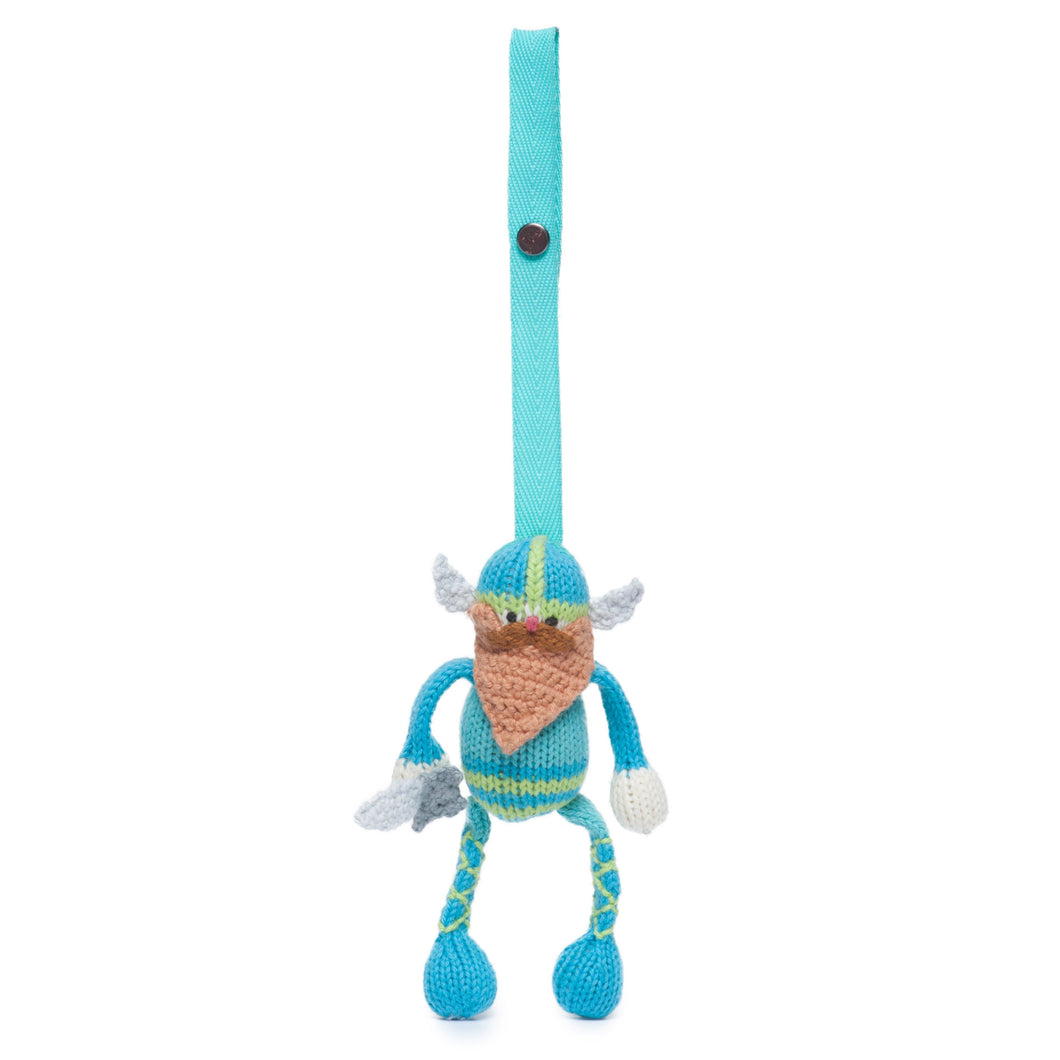 Knit stroller toy | gunnar the viking