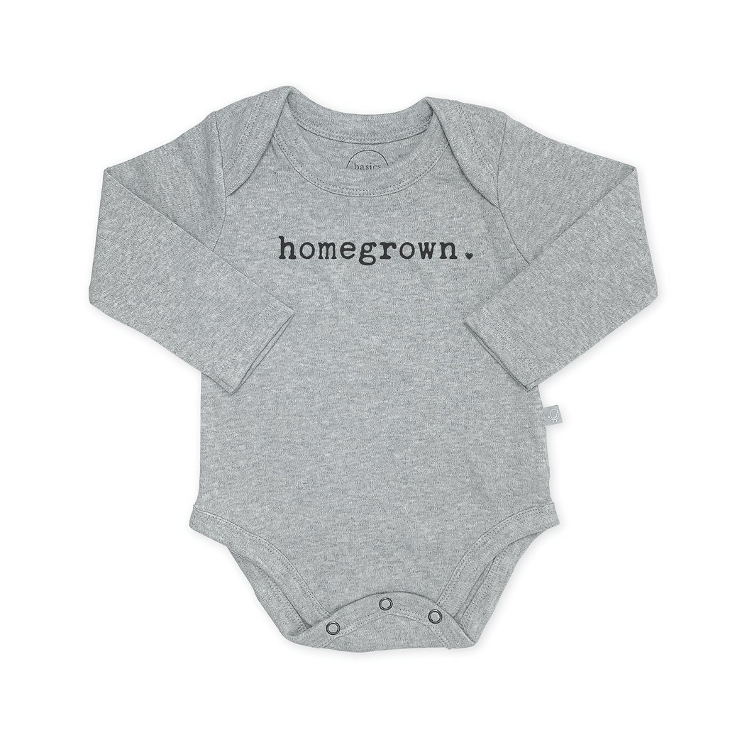 Baby graphic bodysuit | homegrown (long sleeve) finn + emma