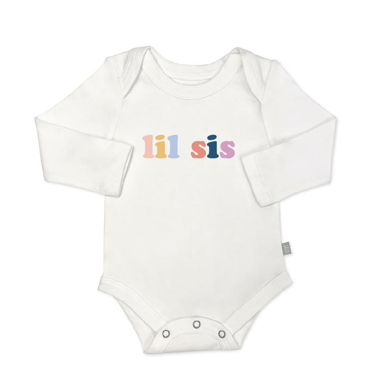 Baby graphic bodysuit | lil sis (long sleeve) Finn + Emma