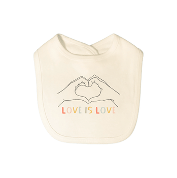 Baby graphic bib | love is love finn + emma