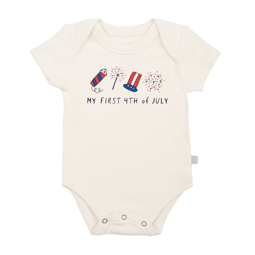 Baby graphic bodysuit | my first 4th of july finn + emma