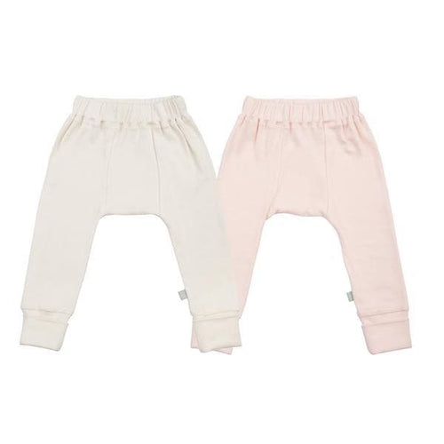 2 pc. pants set | off-white & pink