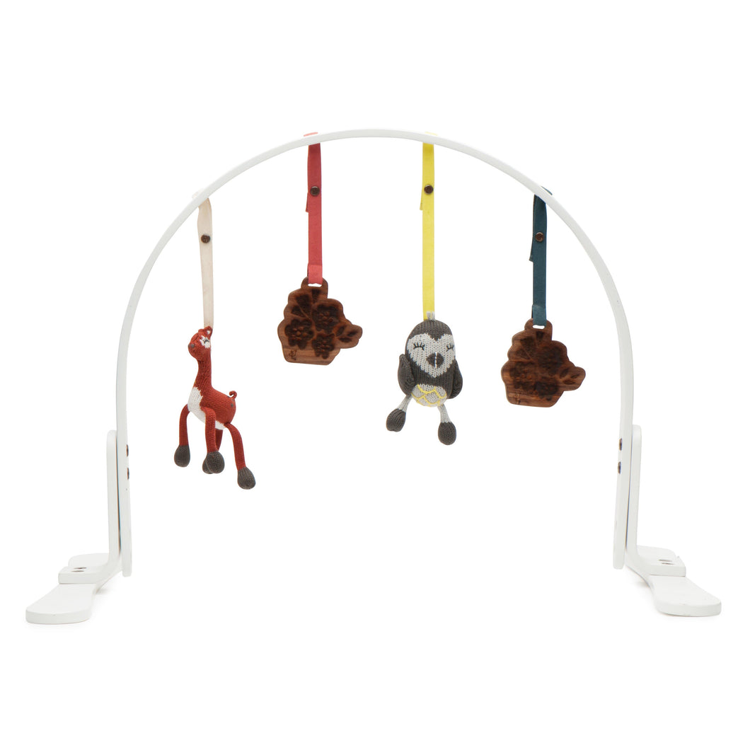 play gym | wildflowers | white