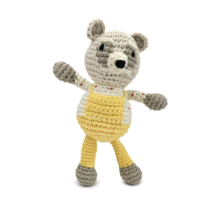"Gift set perfect for holidays or baby showers.  Includes an organic body suit and crochet raccoon. This body suit is inspired by characters in Emily Winfield Martin's book ""The Wonderful Things You Will Be""."