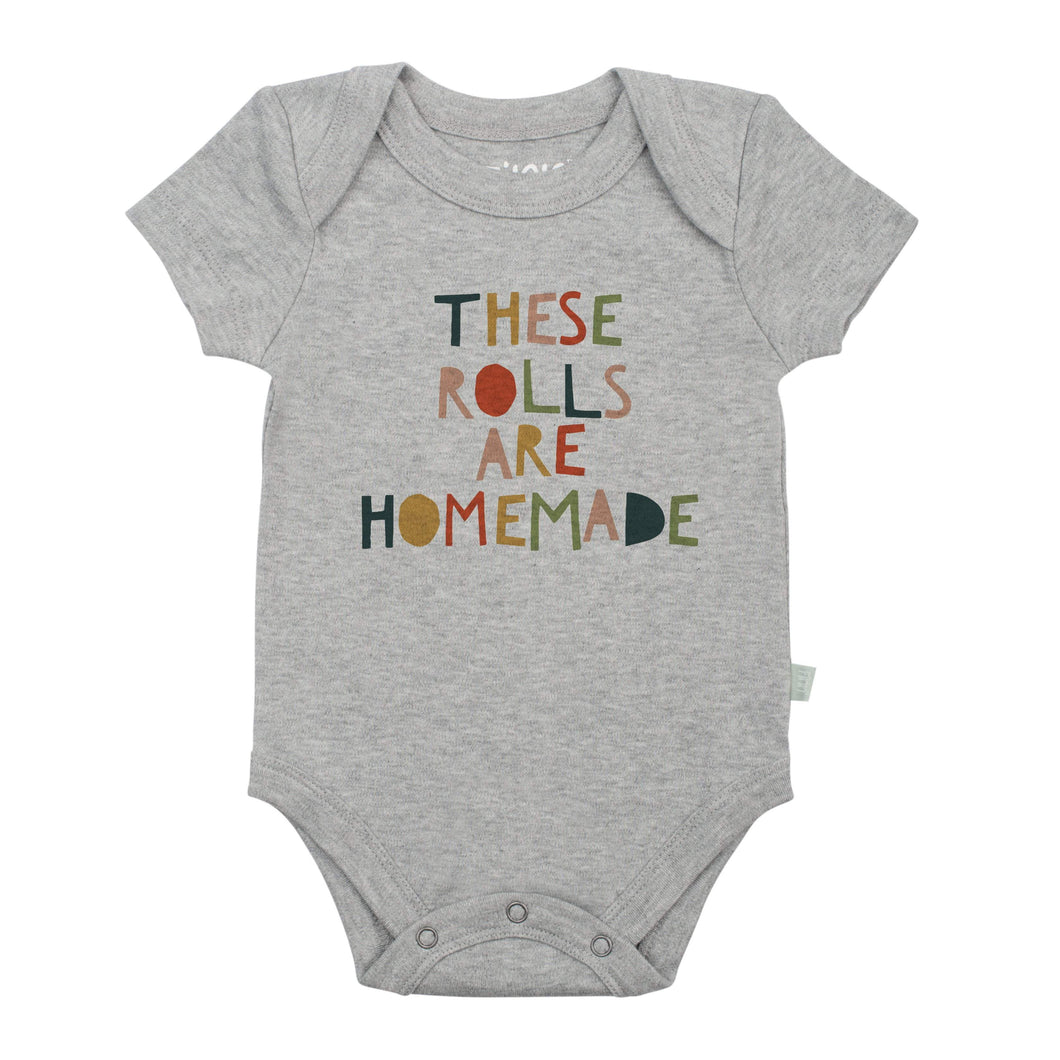 graphic bodysuit | these rolls (heather)