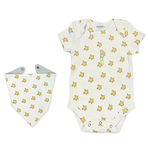 bodysuit & bib | yellow stars & little prince