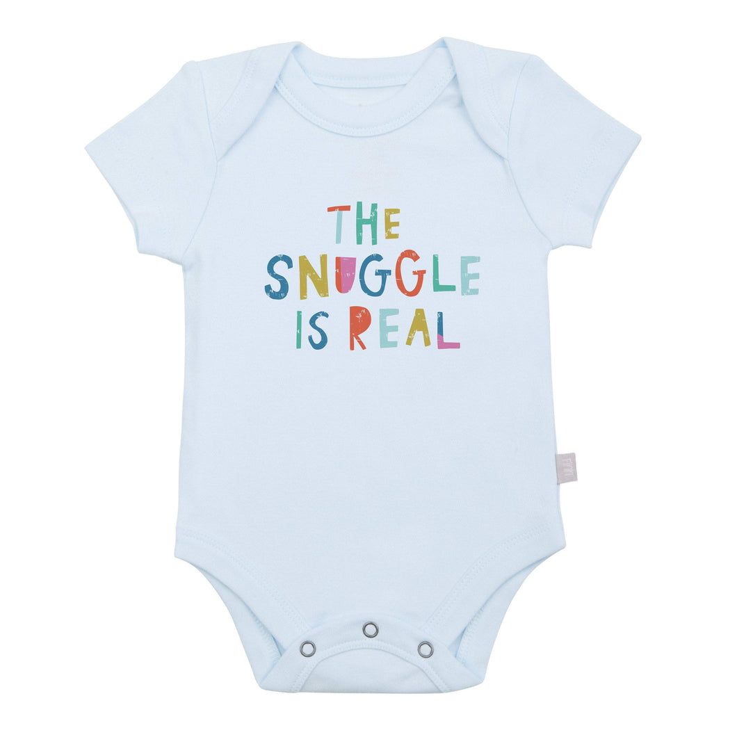 graphic bodysuit | snuggle is real (blue)
