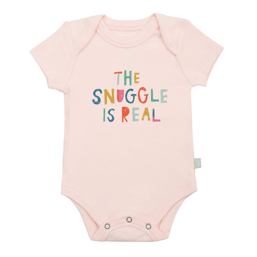 graphic bodysuit | snuggle is real (pink)