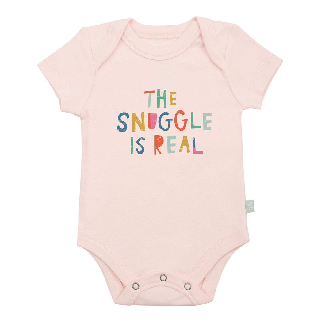 Baby graphic bodysuit | snuggle is real (pink) finn + emma
