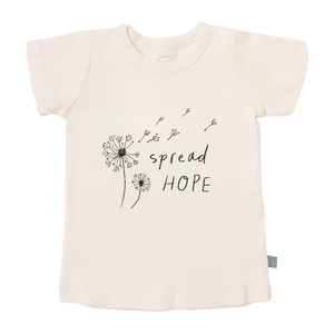 Baby graphic tee | spread hope finn + emma