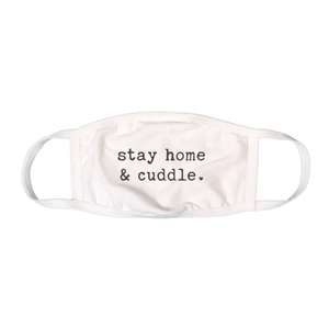 Baby graphic mask | stay home and cuddle finn + emma