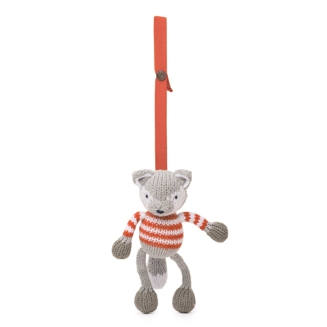 knit stroller toy | finley the fox