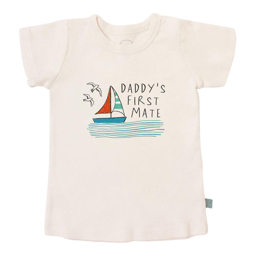 Baby graphic tee | daddy's first mate finn + emma