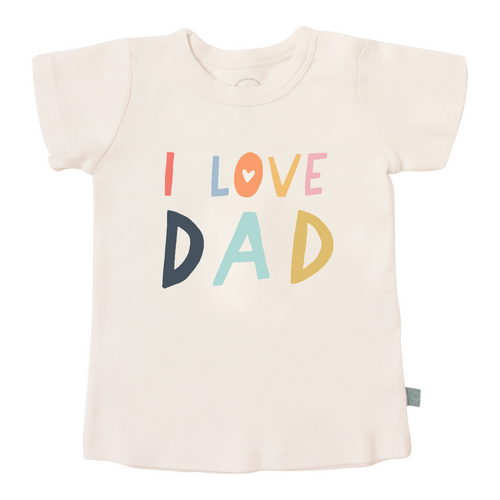 Baby graphic tee | love dad finn + emma