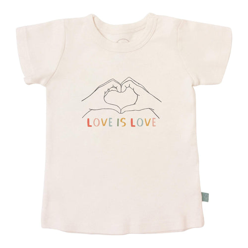 Baby graphic tee | love is love finn + emma