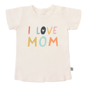 Baby graphic tee | love mom finn + emma