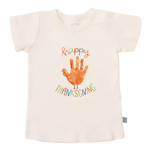 Baby graphic tee | thanksgiving hand finn + emma