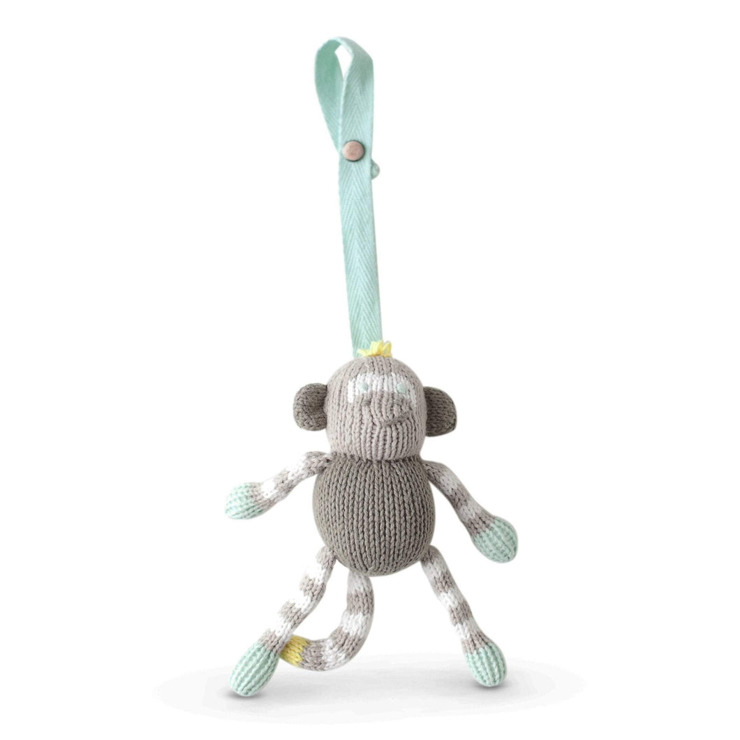 knit stroller toy | theo the monkey
