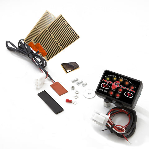 Snowmobile Grip Heater Kit with Quad Zone Controller