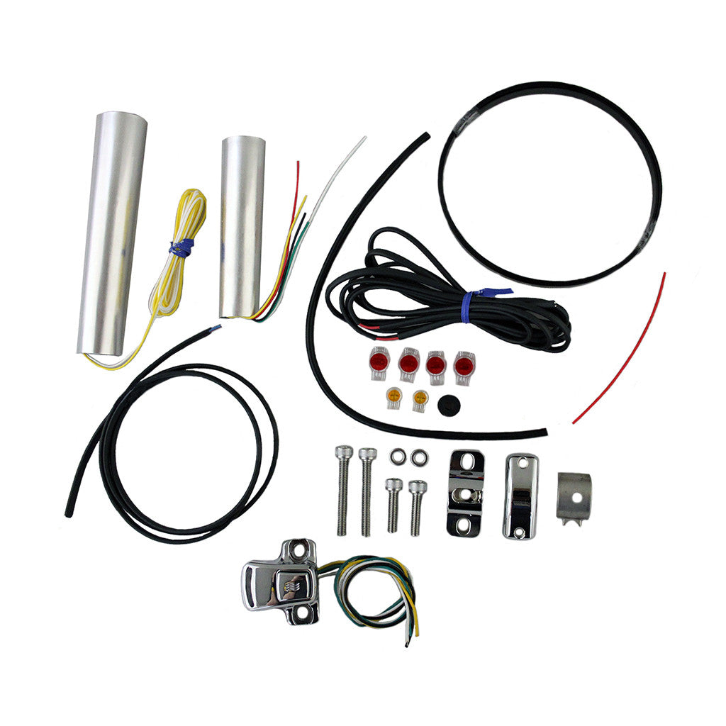 Motorcycle Internal Grip Heater Kit with Four-Level Controller