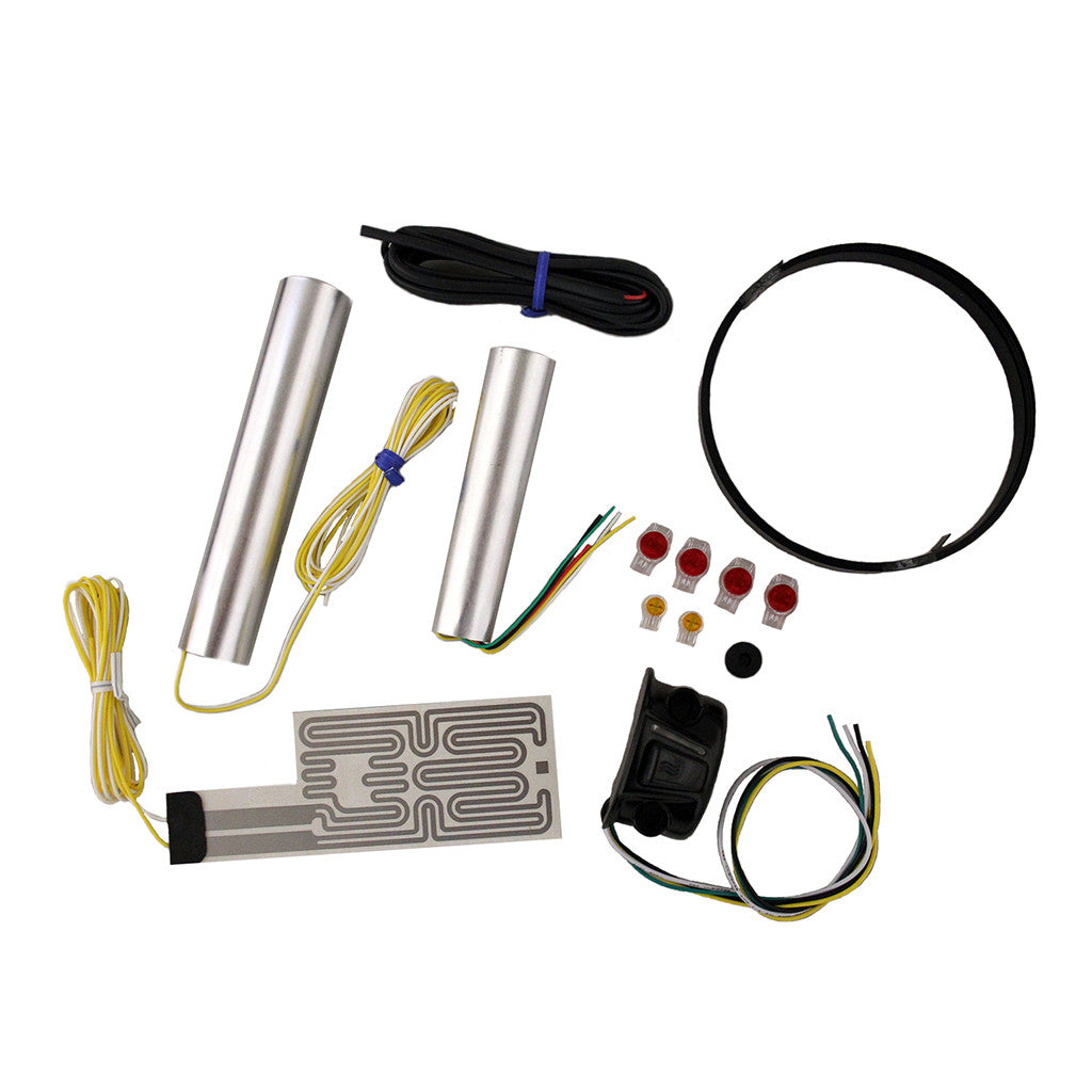Motorcycle Grip Heater Kit for Harley with Four-Level Controller
