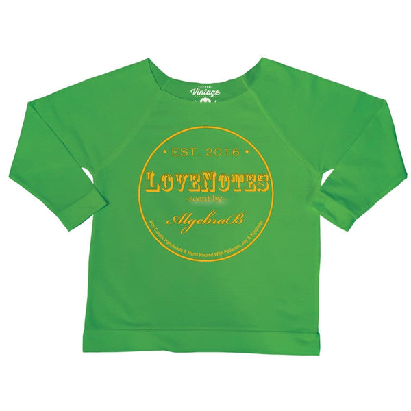 LoveNotes KELLY GREEN Off The Shoulder 3/4 Sleeve Shirt