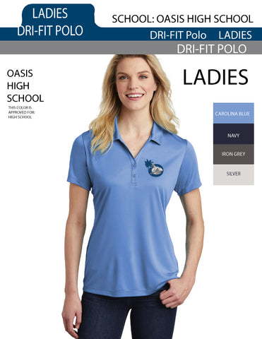 Ladies Drifit Polo for Oasis High School