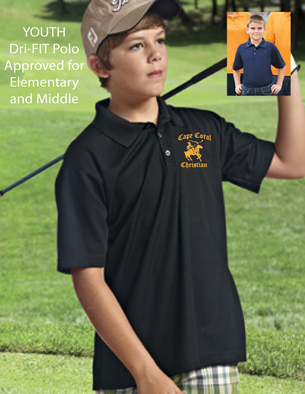 Cape Christian YOUTH Dri-Fit Embroidered Polo