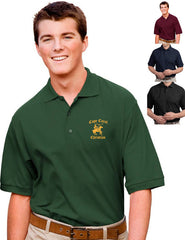 Cape Christian Mens Embroidered Knit Polo