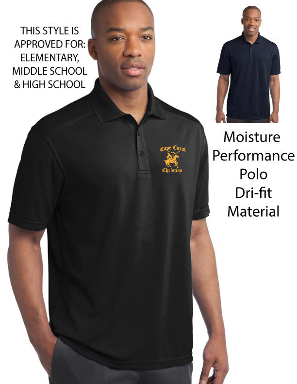 Cape Christian School Mens Dri-fit Polo