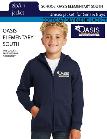 Oasis Elementary South ( OES )  Zip-up Hooded Jacket