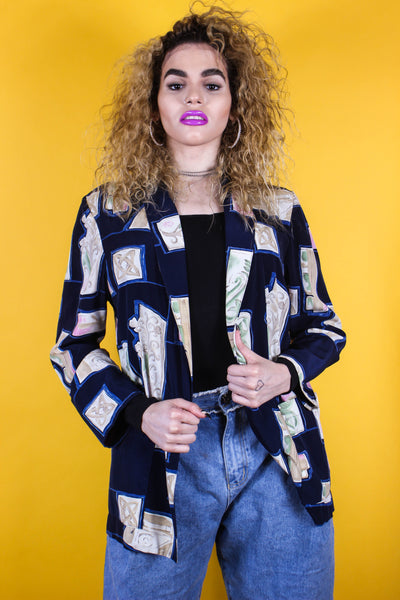 Vintage Abstract Blazer