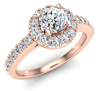 Halo Engagement Rings by Glitz Design