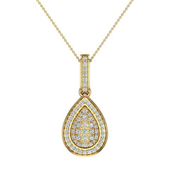 1.00 ct tw Pear Drop-Shape Diamond Necklace 18K Gold in Yellow Gold