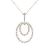 Entwined Circles Dangling Diamond Pendant in 14K Gold (I,I1) - Rose Gold